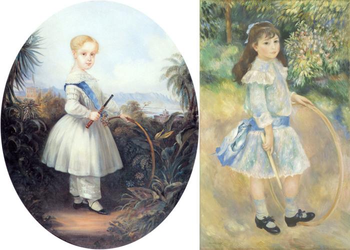 Обручи можно встретить на полотнах европейских художников прошлых веков.