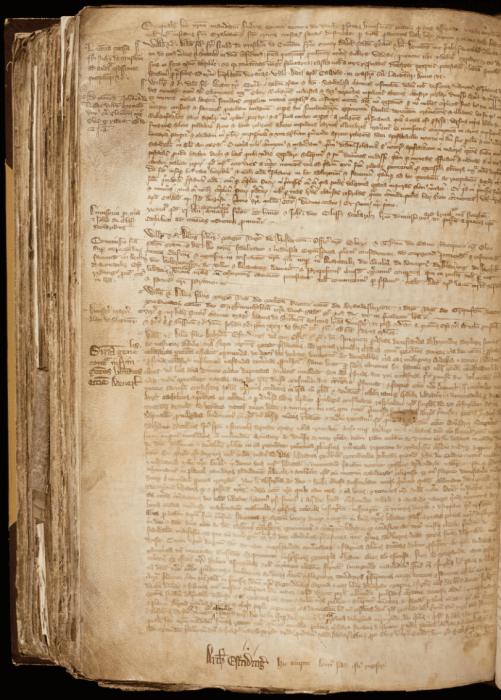 Тот самый документ, повествующий о проступке монахини. /Фото:York Archbishops' Register