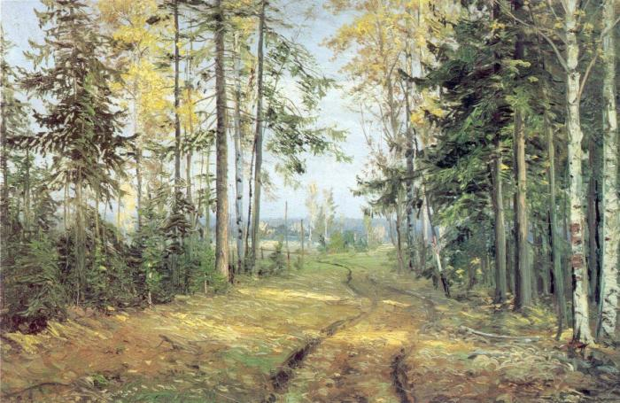 Николай Ге. «Дорога в лесу». Картина черниговского периода (1893 г.).