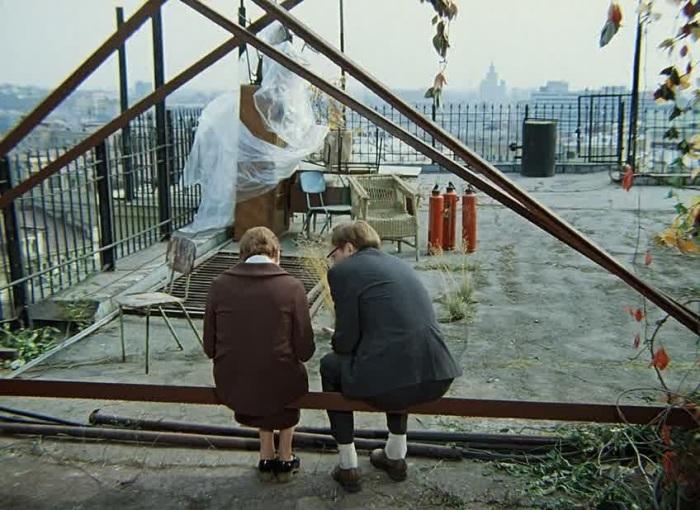Та самая легендарная крыша Дома Нирнзее. Кадр из фильма.