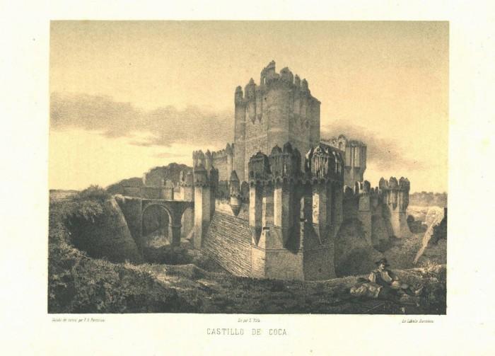 Castillo de Coca, 1865 год./ Parcerisa