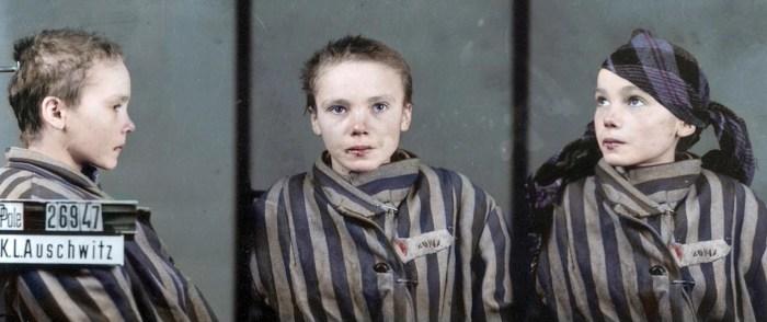 Фото Чеславы в концлагере.