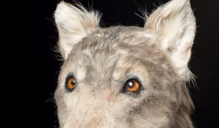 При создании головы использован реальный волчий мех.