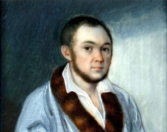 Портрет Петра Ершова в молодые годы. /Худ. М. Теребенёв