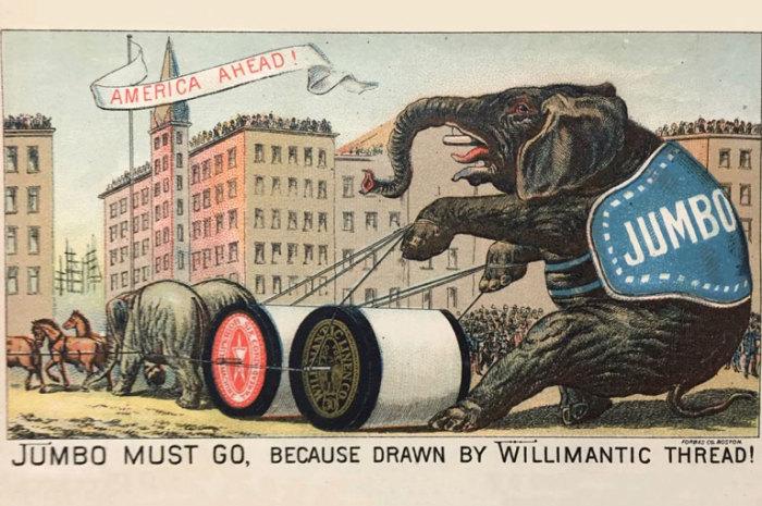 Джамбо на американском плакате как олицетворение силы. /Фото:Бостонская республиканская библиотека