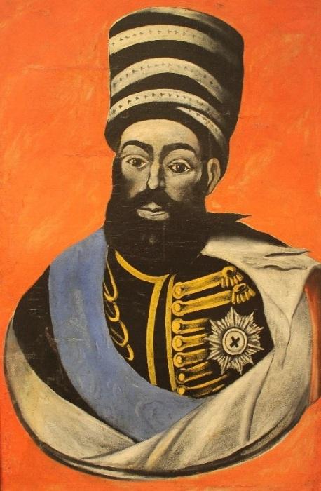 Ираклий II. Портрет, представленный в местном музее./Художник - Нико Пиросмани, тоже ставший в городе легендой.