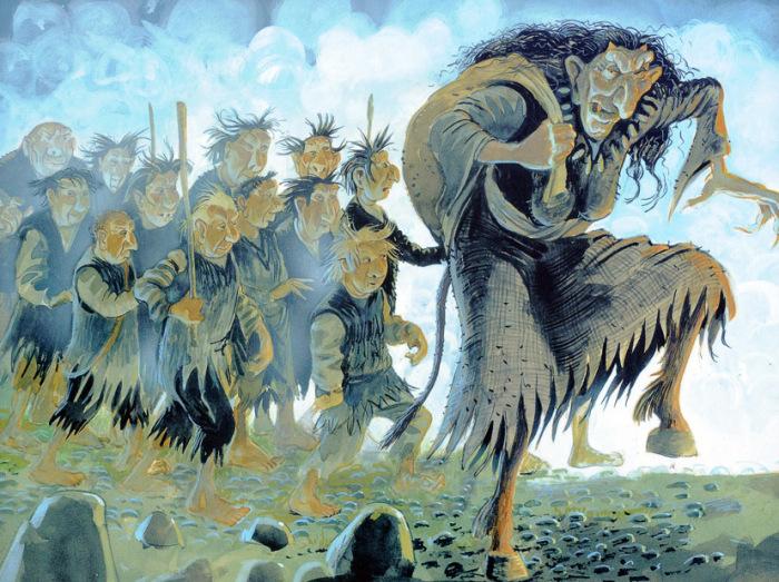 Исландская Баба-Яга и ее сыновья, которые стали Сантами. /Фото:bellabs.ru