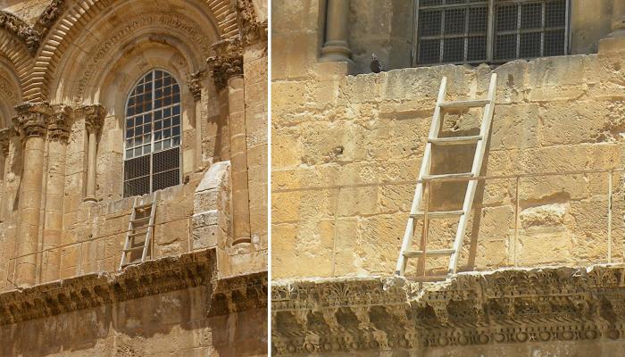 Раньше лестницу активно использовали монахи. Сейчас - уже нет. /Фото:guide-israel.ru