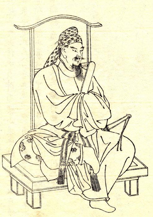 Император Тэндзи. Старинный рисунок. /Фото:animekun.ru