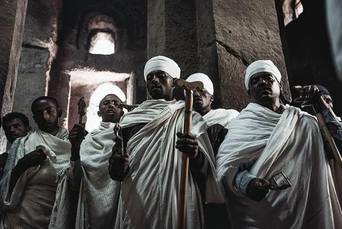 Субботняя служба в эфиопском храме. /Фото:kommersant.ru