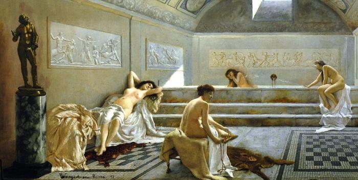 Женщины во фригидариуме. /Худ. Pedro Weingartner, 1897