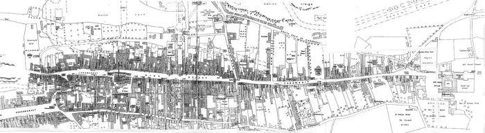 Так выглядит на карте Королевская Миля, под которой сокрыты многочисленные тайные ходы.