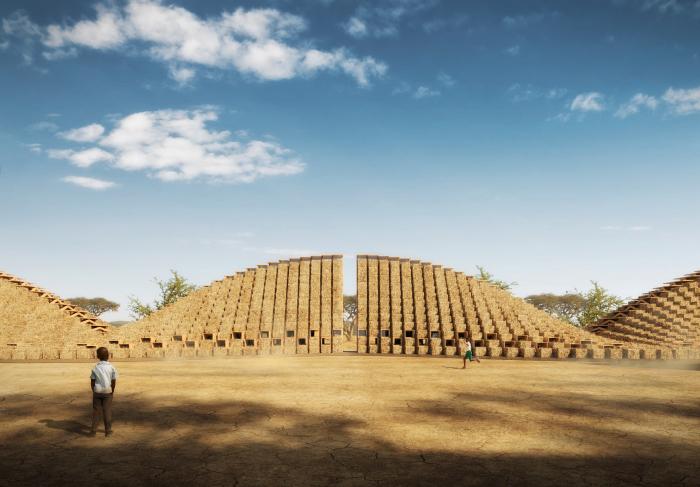 Проект представляет собой футуристический объект, больше похожий на что-то неземное, нежели на здание школы.