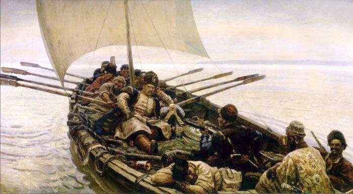 Морской поход Степана Разина глазами художника В. Сурикова.