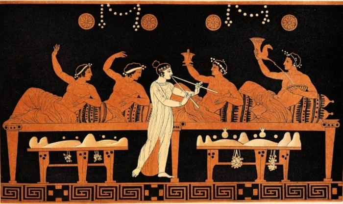 Во время Древнегреческой трапезы салфеткой служил фиговый листок.