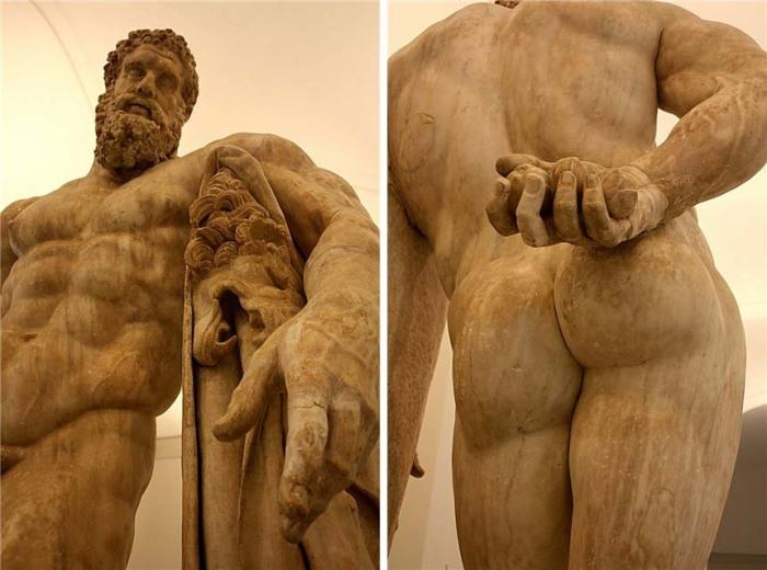 Одна из самых известных скульптур - Геракл Фарнезский (III век, копия с оригинала IV в. до н.э., хранится в музее Неаполя). Возможно, амманский Геркулес выглядел примерно так. /Фото:3bb.ru