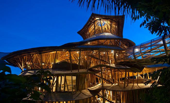 Бамбуковые дома шедевральны и идеальны для теплого климата. /Фото:boredpanda.com