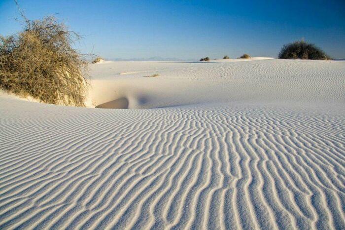 Национальный парк Уайт-Сэндс. /Фото:pinimg.com