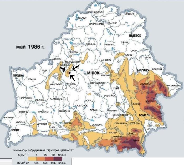 На карте это место отмечено ка зараженное цезием. /Фото:drive2.ru