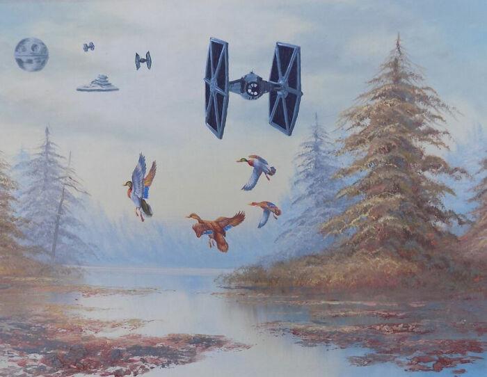 В осеннем небе хватит места всем: и птицам, и летательным аппаратам.