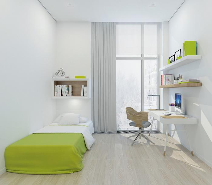 Спальня в одной из сколковских квартир. /Фото:sdelanounas.ru