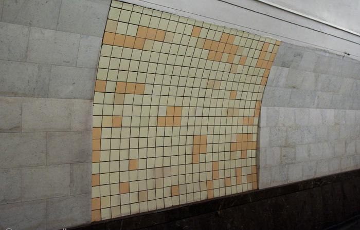 Та самая плитка на станции «Охотный ряд». /Фото:moscowwalks.ru