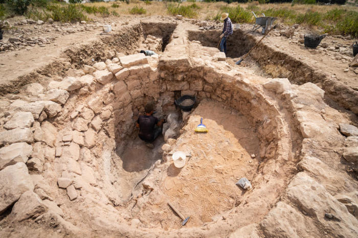 Раскопки позднего античного известняка. /Фото:Питер Юлих, uni-muenster.de