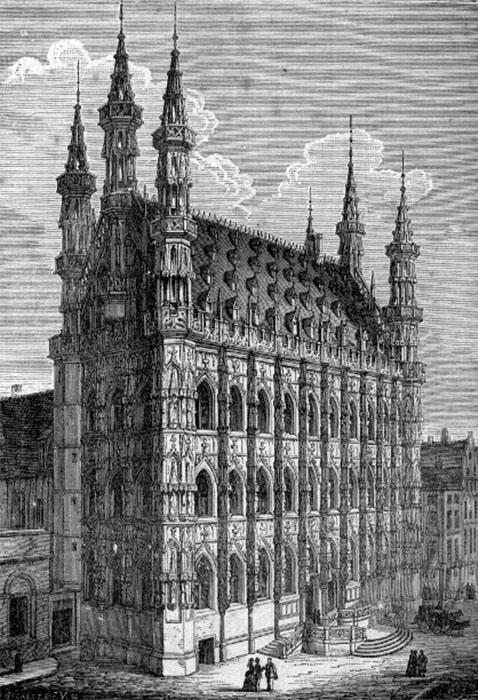 Лёвенская ратуша. Изображение Йохана Мареша