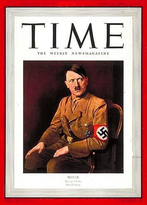 Гитлера считали сильным и устрашающим лидером, подмявшим под себя раболепствующую Европу, однако на деле все оказалось еще страшнее. /Обложка журнала а Time
