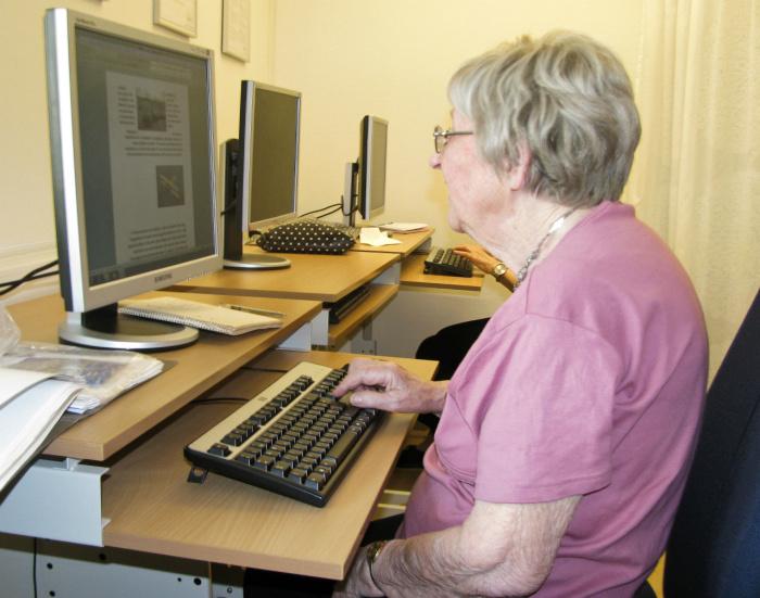 Аватарка бабушки-блогера в интернете.