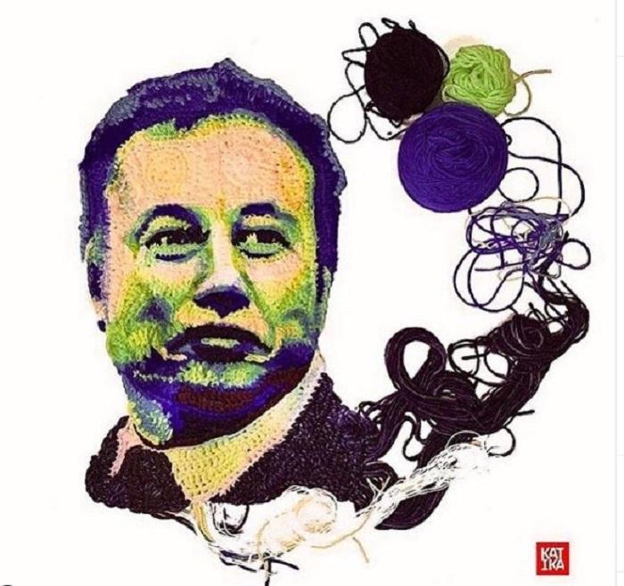 Вязаный Илон Маск.