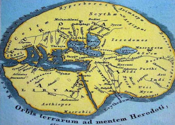 Карта Геродота. /Фото:livemaster.ru