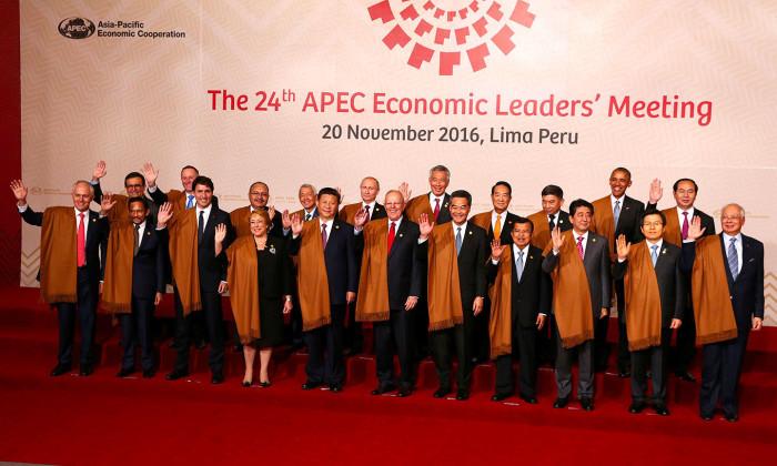 На саммите АТЭС в Перу лидеры стран-участниц вышли на общее фото в накидках из шерсти викуньи, которые им подарил перуанский президент. /Фото:nefakt.info