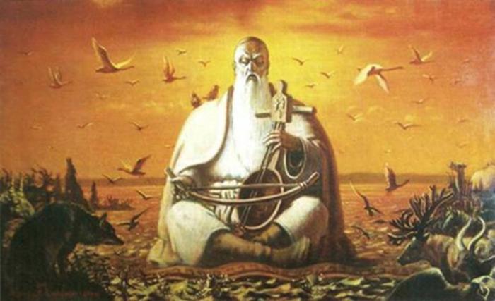 Одно из изображений Коркута (Коркыта), которого считают прародителем всех шаманов-баксы. /Фото:astrakhan-musei.ru