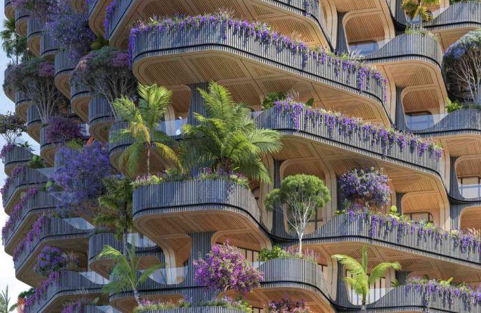 Здание украсят 30 тысяч растений.