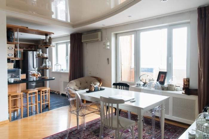 Дизайн в одной из квартир дома на Довженко. /Фото: the-village.ru