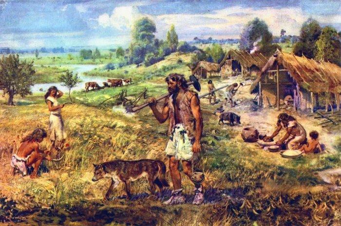 Так выглядело древнее поселение 11-12 тыс. лет назад.