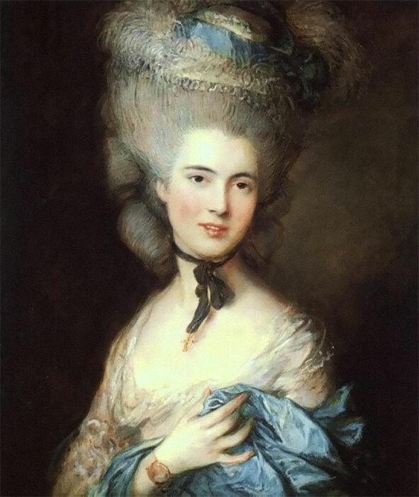 «Дама в голубом» Гейнсборо смотрится великолепно. Правда, лучше не думать, какой ценой доставались такие прически.