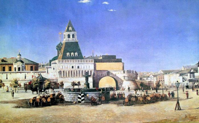 В. Гелер. Лубянская площадь. 1880 г.