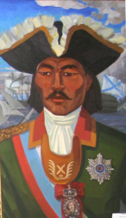 Контр-адмирал Д.С. Калмыков. Худ. К.Ольдаев