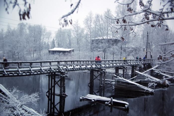 Удивительные мосты. /Фото группы <br> «Мосты округа Олонец» в vk.com
