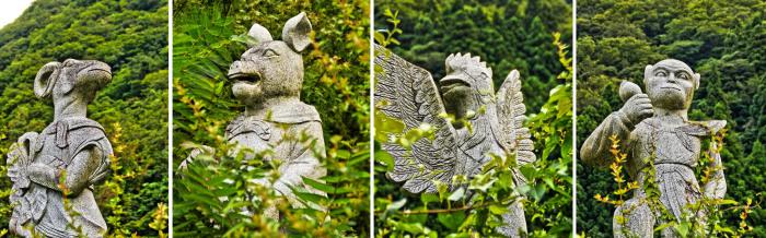 В Буддийском лесу есть даже 12 знаков китайского гороскопа: обезьяна, свинья, петух, баран, лошадь, змея, кролик и так далее... /Фото:kanasys.com