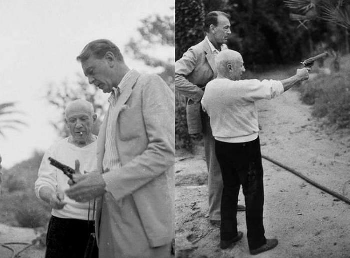 Пикассо и актер Гэри Купер, 1959 год. /Фото: lichnosti.net