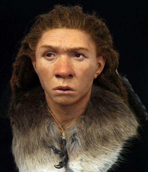 Неандертальская девушка, согласно исследованиям Нильссоа, выглядела именно так. /Фото^ Medielab Moesgaard