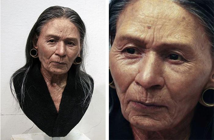 Реконструкция королевы Вари, выполненная на основе останков возрастом около 1 200 лет, обнаруженных в Перу. Представлена в Национальном этнографическом музее в Варшаве./Фото с сайта О.Д. Нильссона