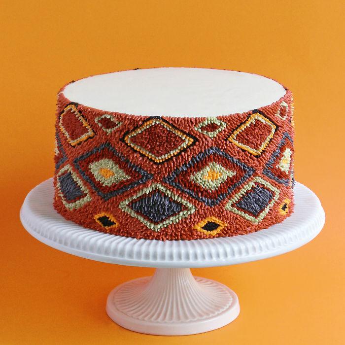 Кондитера вдохновляют ковры и текстиль.