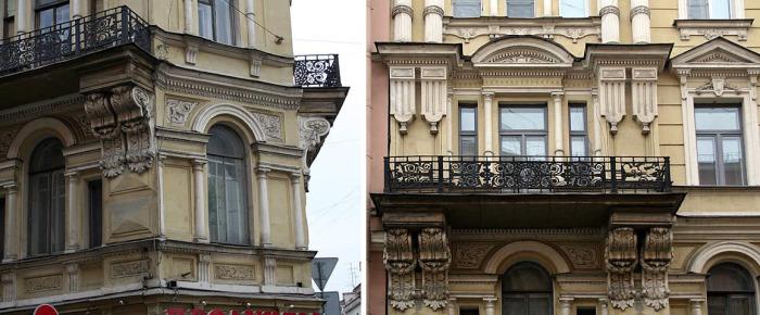 Фрагменты фасада. /Фото:citywalls.ru