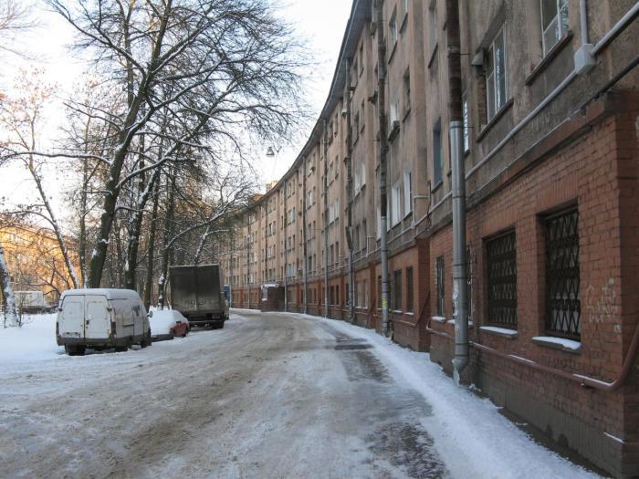 Дом долгое время считался самым длинным в Ленинграде. /Фото:citywalls.ru