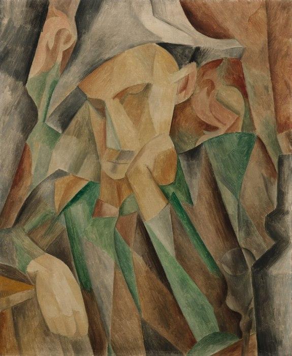 Пабло Пикассо. Арлекин (1909).