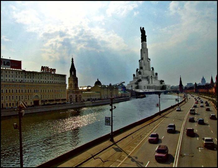Такой вот вид открывался бы нам с Москвы-реки. /Фото:orbita96.ru
